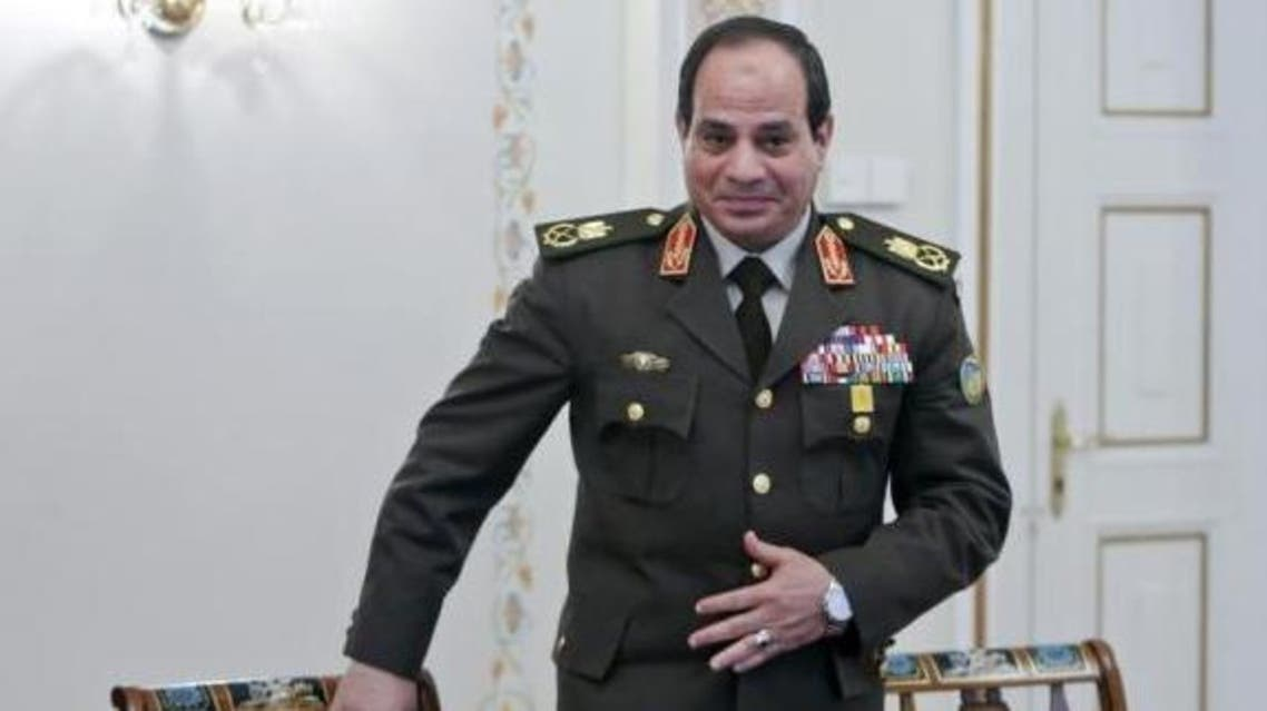 Egyptian Army chief Field Marshal Abdel Fattah al-Sisi arrives for a meeting with Russian President Vladimir Putin at the Novo-Ogaryovo state residence outside Moscow, February 13, 2014. (Reuters)