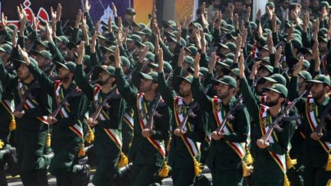 Members of Iran's elite Revolutionary Guards participate in an annual military parade in Tehran. (File photo AFP)