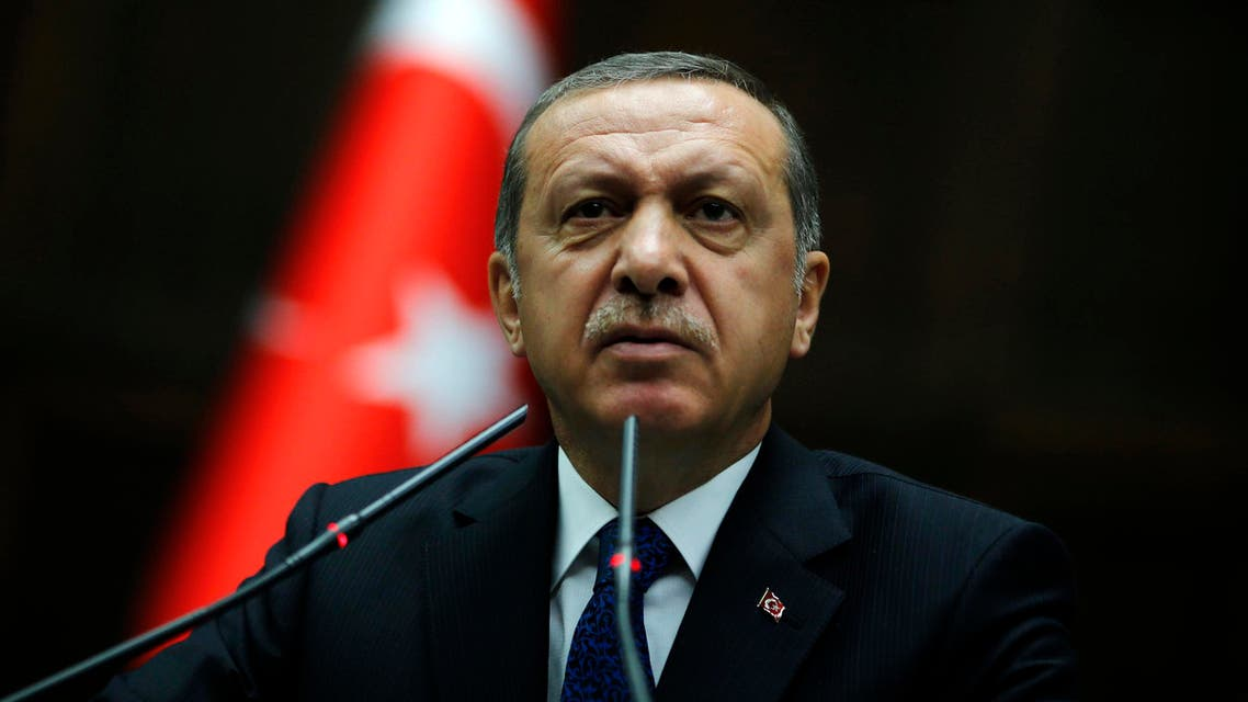 Turkey's Prime Minister Tayyip Erdogan addresses members of parliament from his ruling AK Party (AKP) during a meeting at the Turkish parliament in Ankara June 3, 2014. (Reuters)