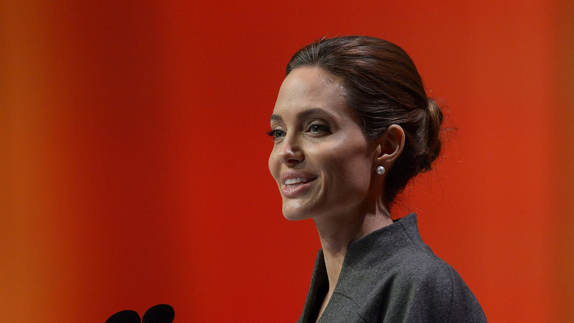 US actress and special UN envoy Angelina Jolie delivers her speech on the fourth day of the Global Summit to End Sexual Violence in Conflict in London on June 13, 2014. afp