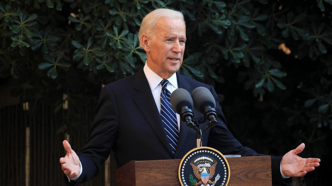 U.S. Vice President Joe Biden delivers a speech at the UN-controlled buffer zone splitting Cyprus and its capital Nicosia May 22, 2014. (Reuters)