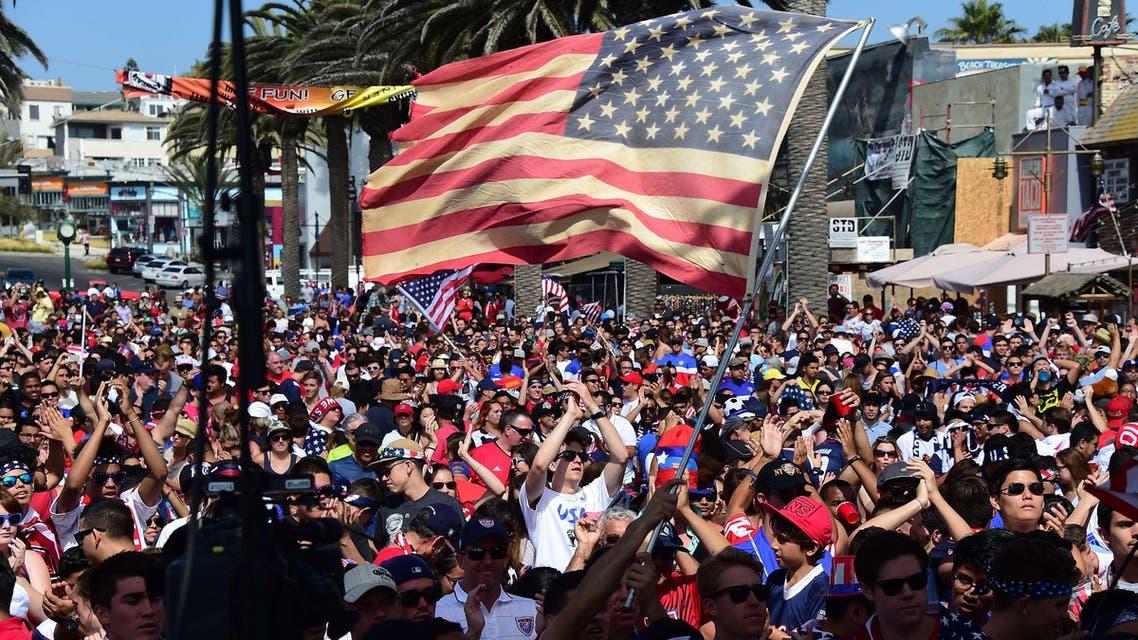 U.S. fans celebrate World Cup match win