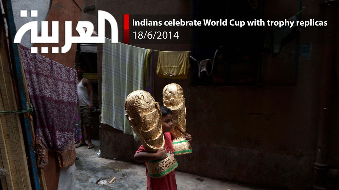 Indians celebrate World Cup with trophy replicas