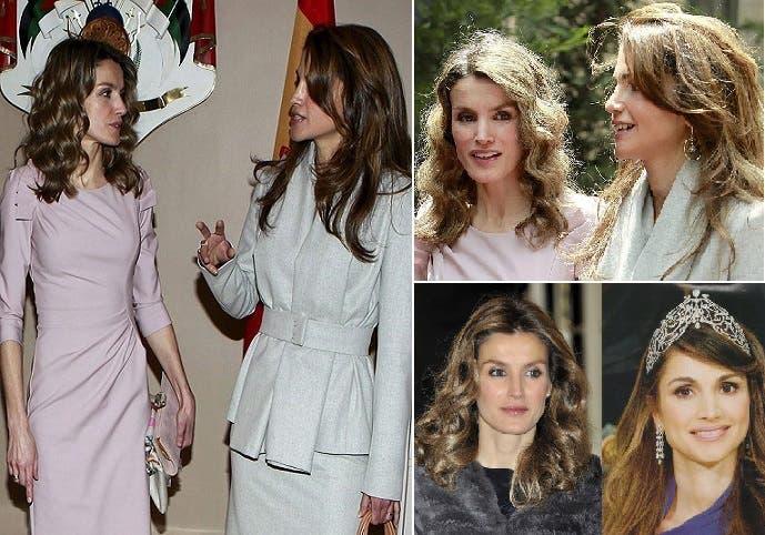 في الأردن وإسبانيا يتحدثون دائما عن الشبه الكبير، عمرا وشكلا، بين ليتيثيا والملكة رانيا العبد الله