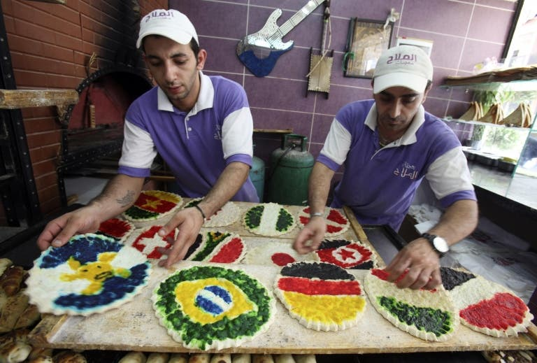 Pastries world cup style in Beirut