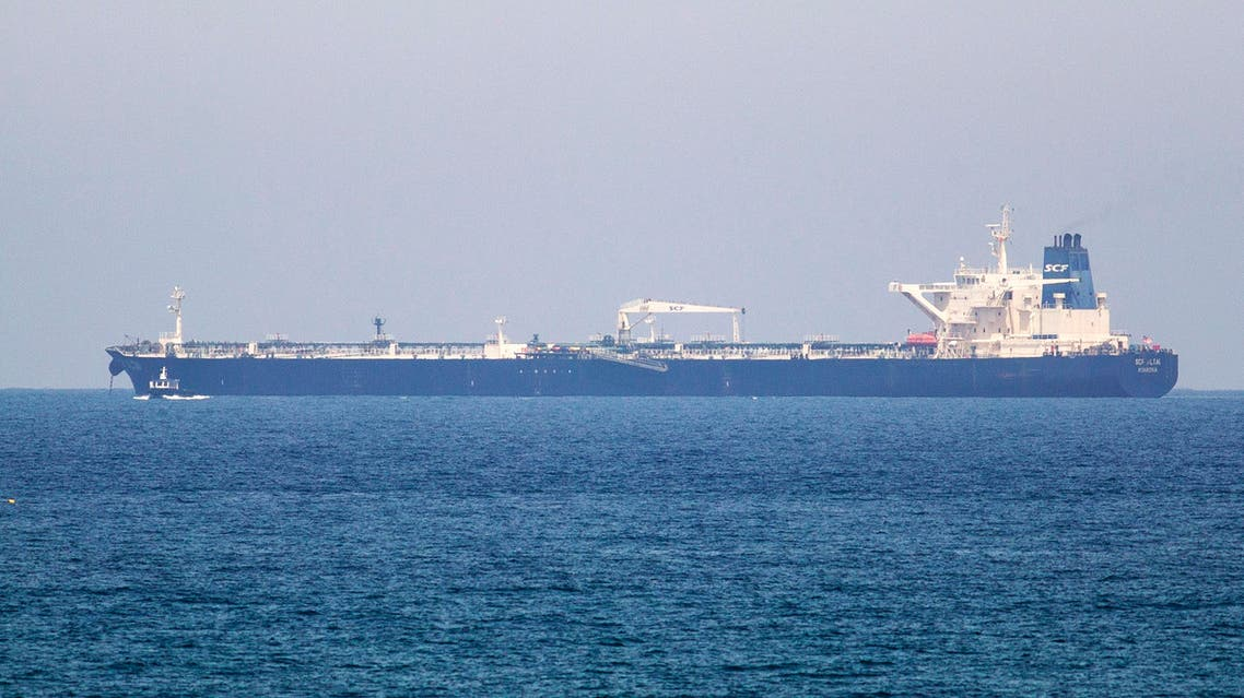 The SCF Altai tanker has anchored near Israel's Ashkelon port June 20, 2014. (AFP)