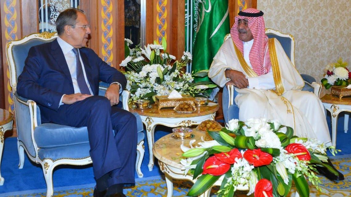 الأمير مقرن بن عبد العزيز ولافروف