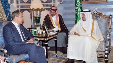 الأميران سلمان ومقرن يستقبلان وزير الخارجية الروسي
