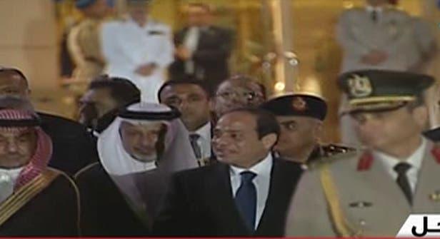 السيسي يستقبل العاهل السعودي