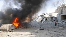 بالفيديو.. طيران النظام السوري يدمر المدن
