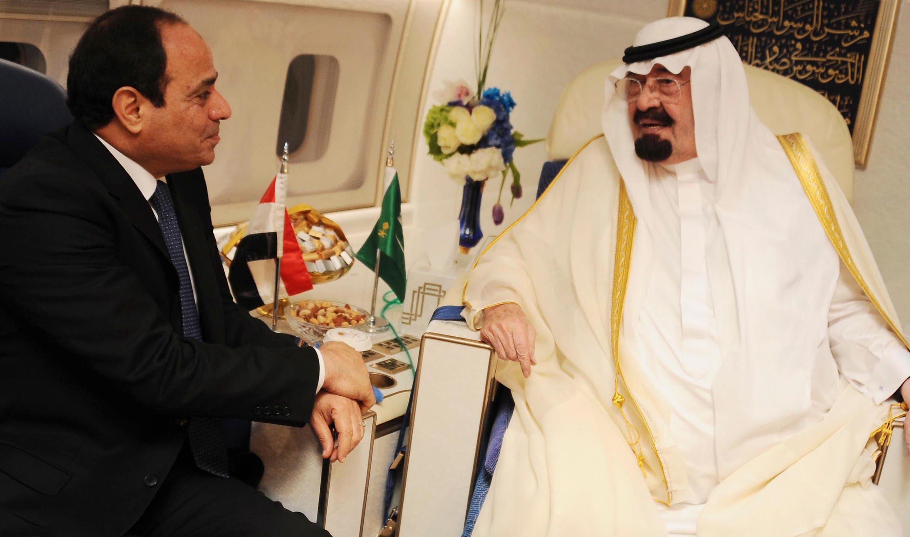 Sisi King Abdullah Saudi Arabia (Reuters)