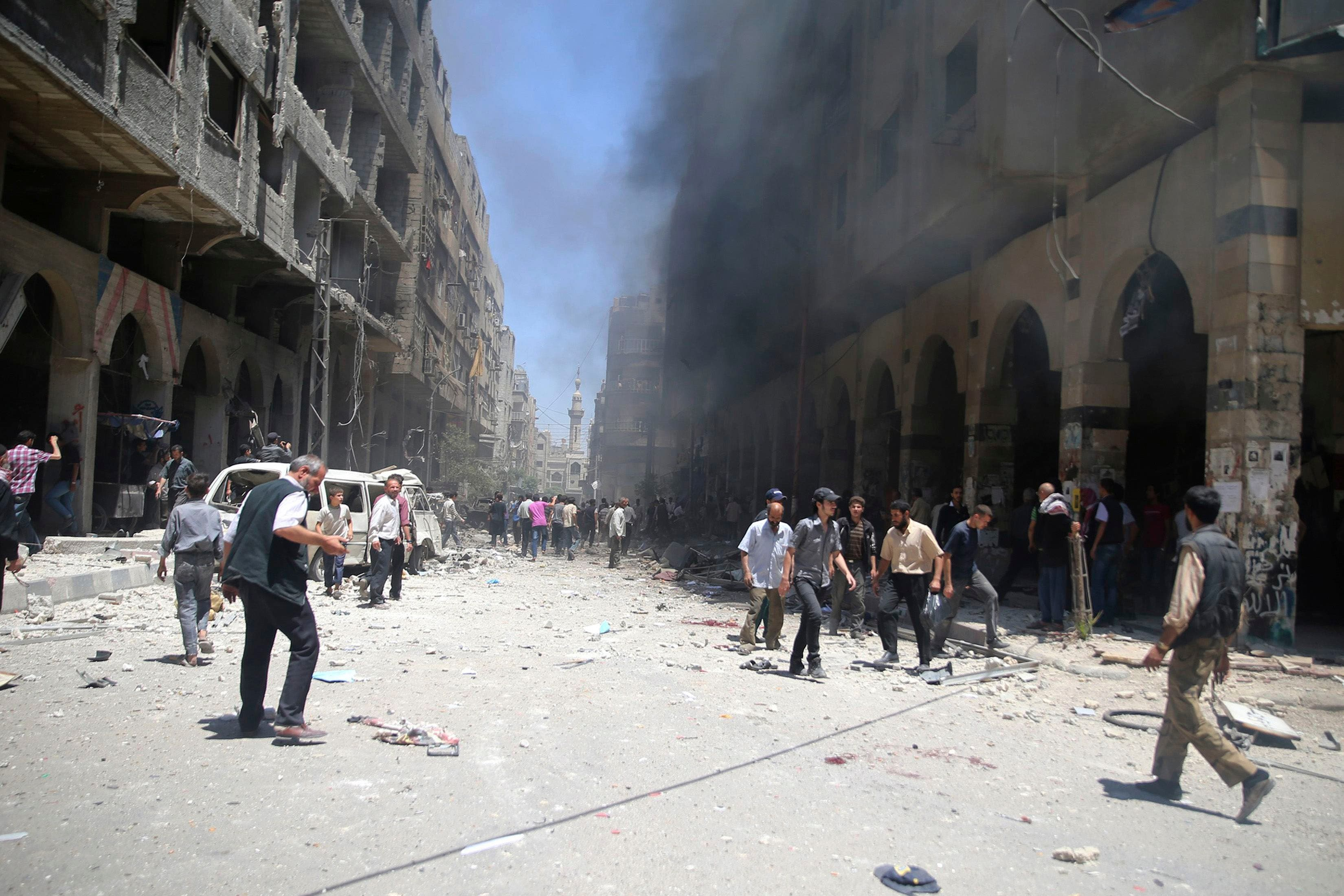 من قصف سابق على ريف دمشق