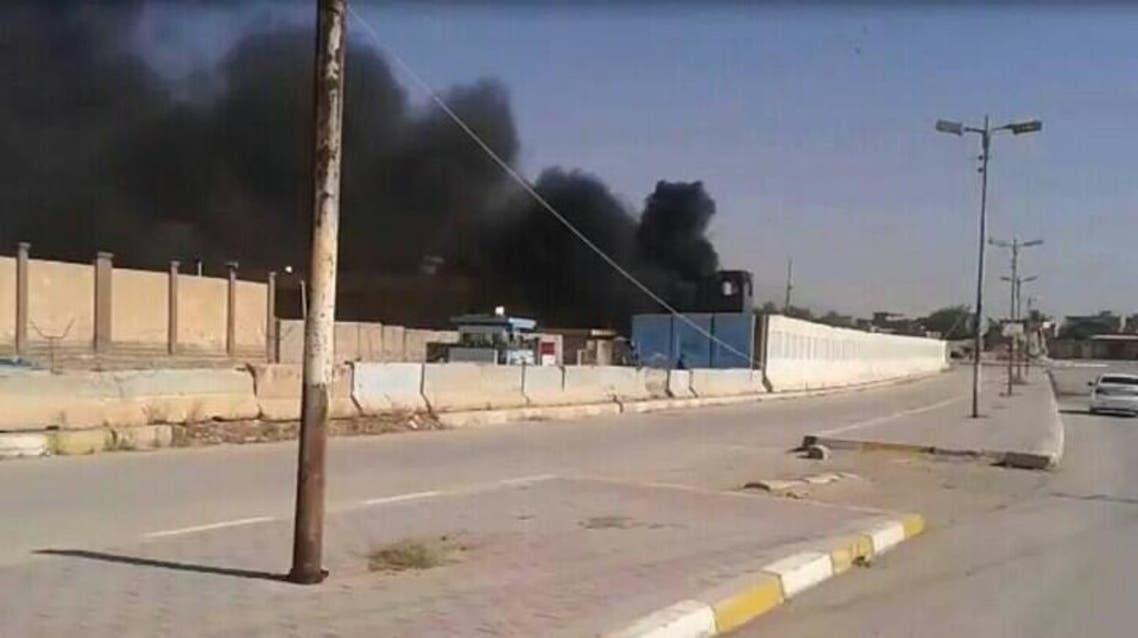 مسلحين في بلدة راوة في محافظة الأنبار