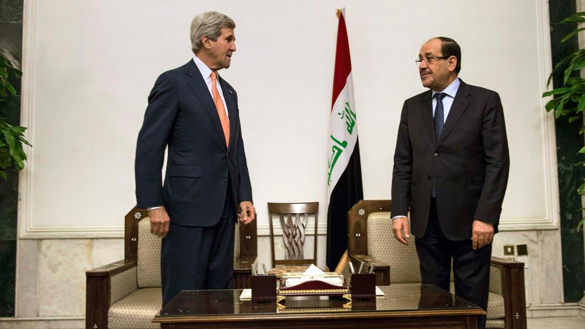 نوري المالكي وجون كيري في العراق حدث