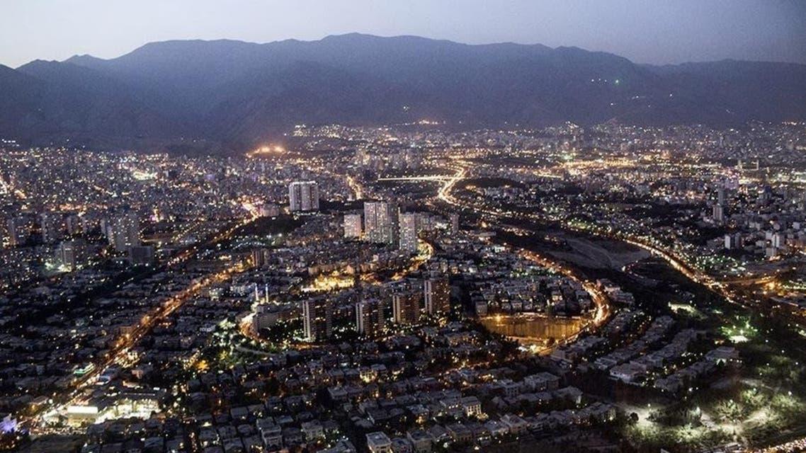 طهران عاصمة ايران في الليل