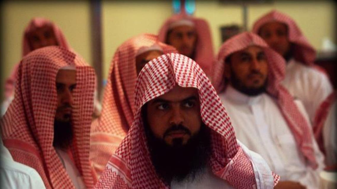 Saudi members of the Committee for the Promotion of Virtue and Prevention of Vice, or religious police, attend a training course in Riyadh (Photo: Reuters)