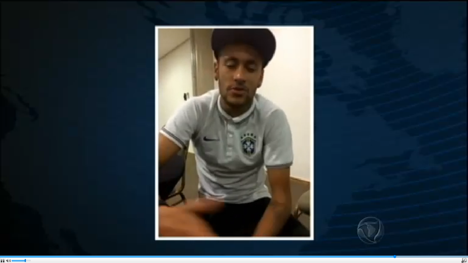 A still from Neymar's video, which was aired on Brazilian TV station Rede Record. (Videograb)