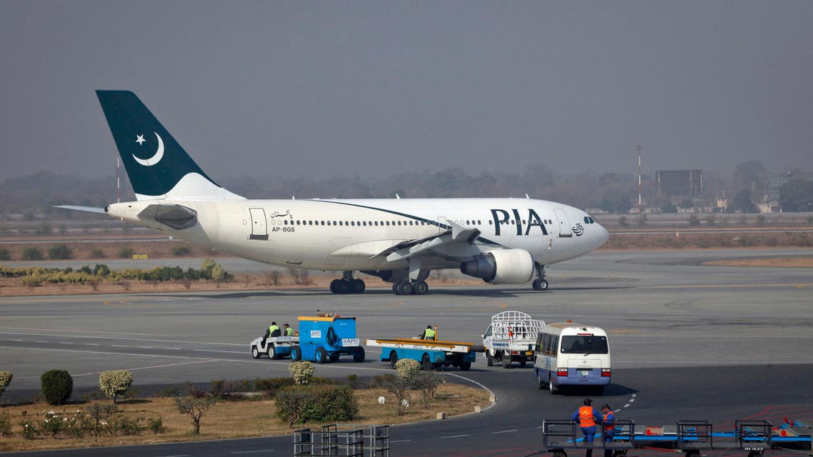 A Pakistan International Airlines (PIA) plane prepares to take-off at Alama Iqbal International Airport in Lahore February 1, 2012.