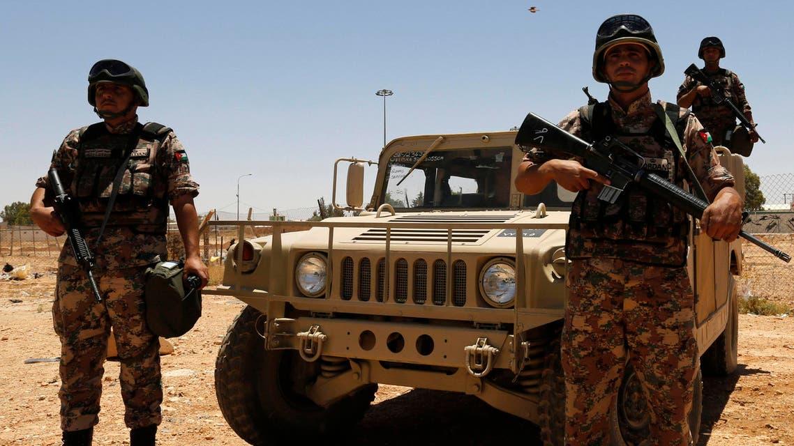 الجيش الأردني على الحدود العراقية الأردنية