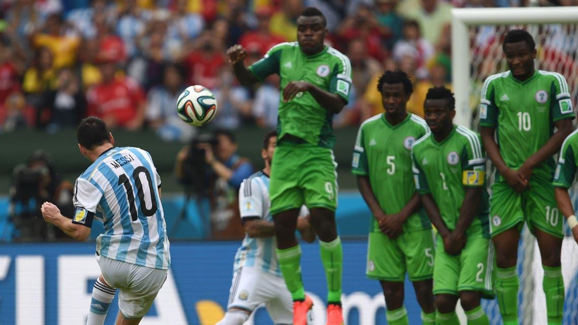 Messi Argentian Nigeria AFP