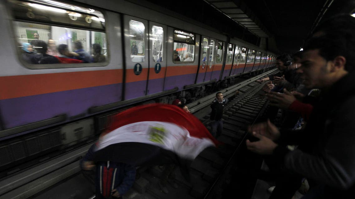 cairo metro station tahrir reuters