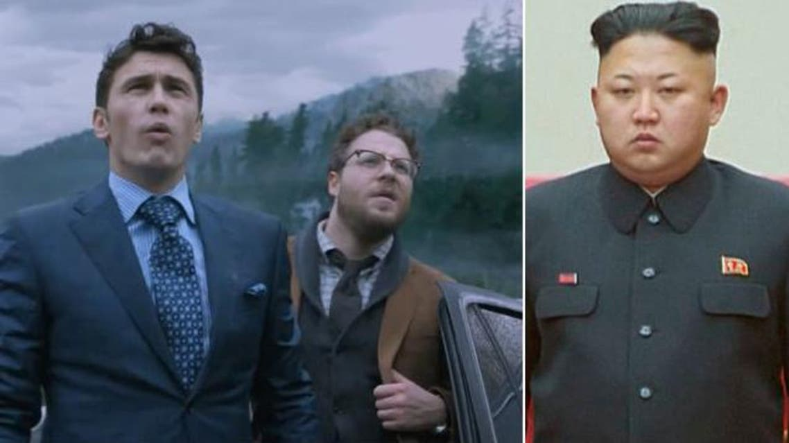 "James Franco, left, and Seth Rogen, middle, star in the film ""The Interview."" North Korea leader Kim Jong-Un is reportedly unimpressed with the film. (YouTube screengrab and REUTERS/Kyodo photos)"