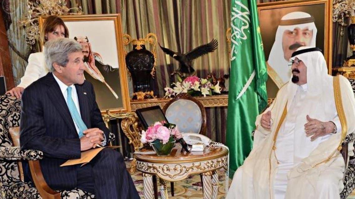 King Abdullah John Kerry Saudi Arabia SPA