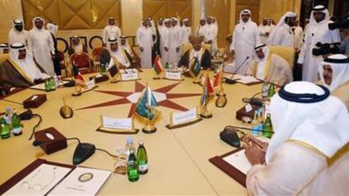 Foreign Ministers of the Arabian Gulf states participate in a Gulf Cooperation Council (GCC) meeting in Doha April 17, 2012. (Reuters)