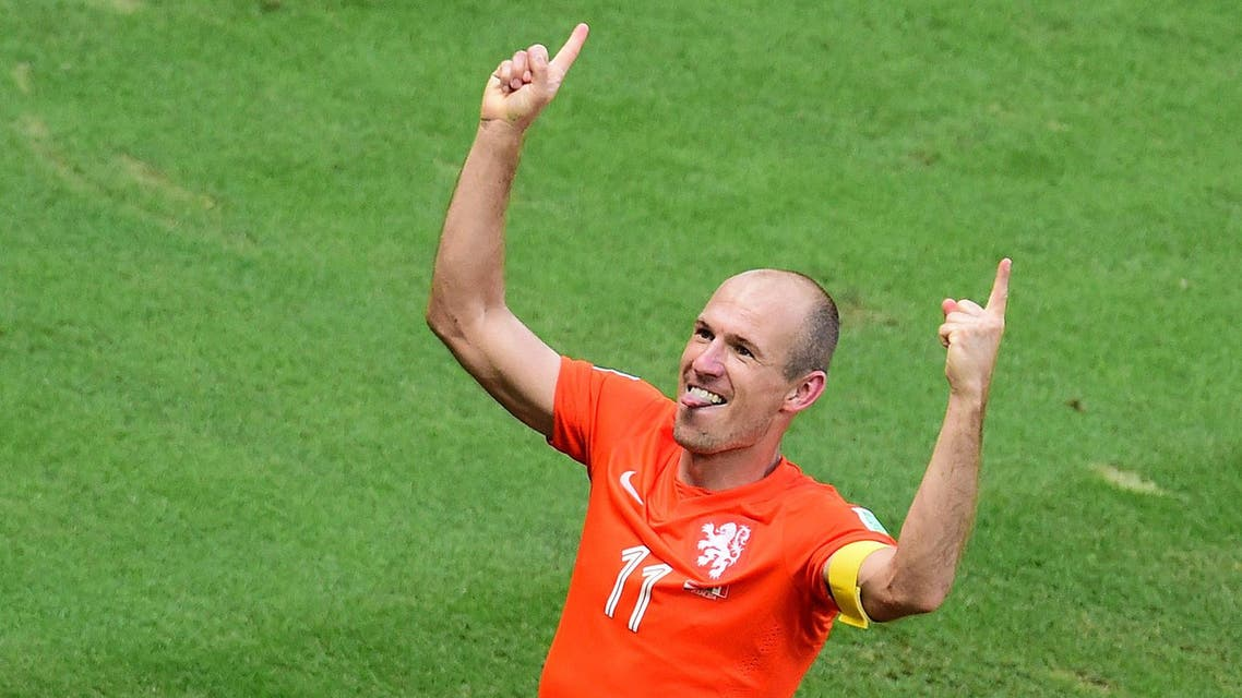 Holland Netherlands Mexico World Cup 2014 AFP