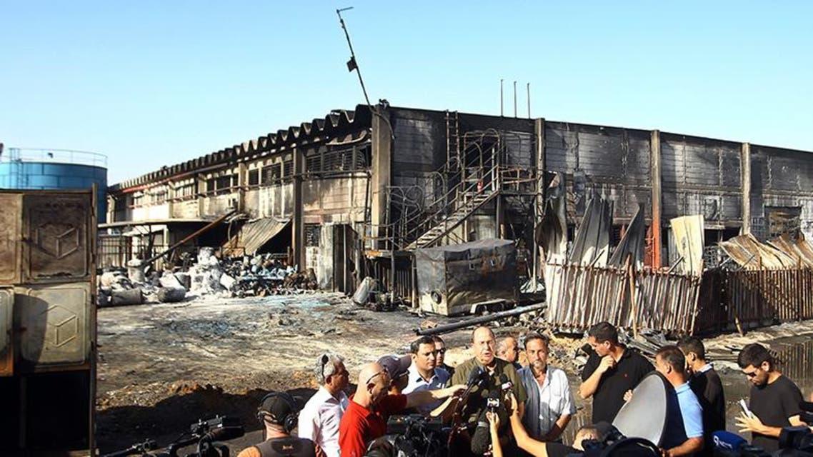 وزير الدفاع الاسرائيلي موشيه يعلون هدد بالرد على اطلاق صواريخ من غزة تسببت بإصابة اسرائيليين واحراق مصنع