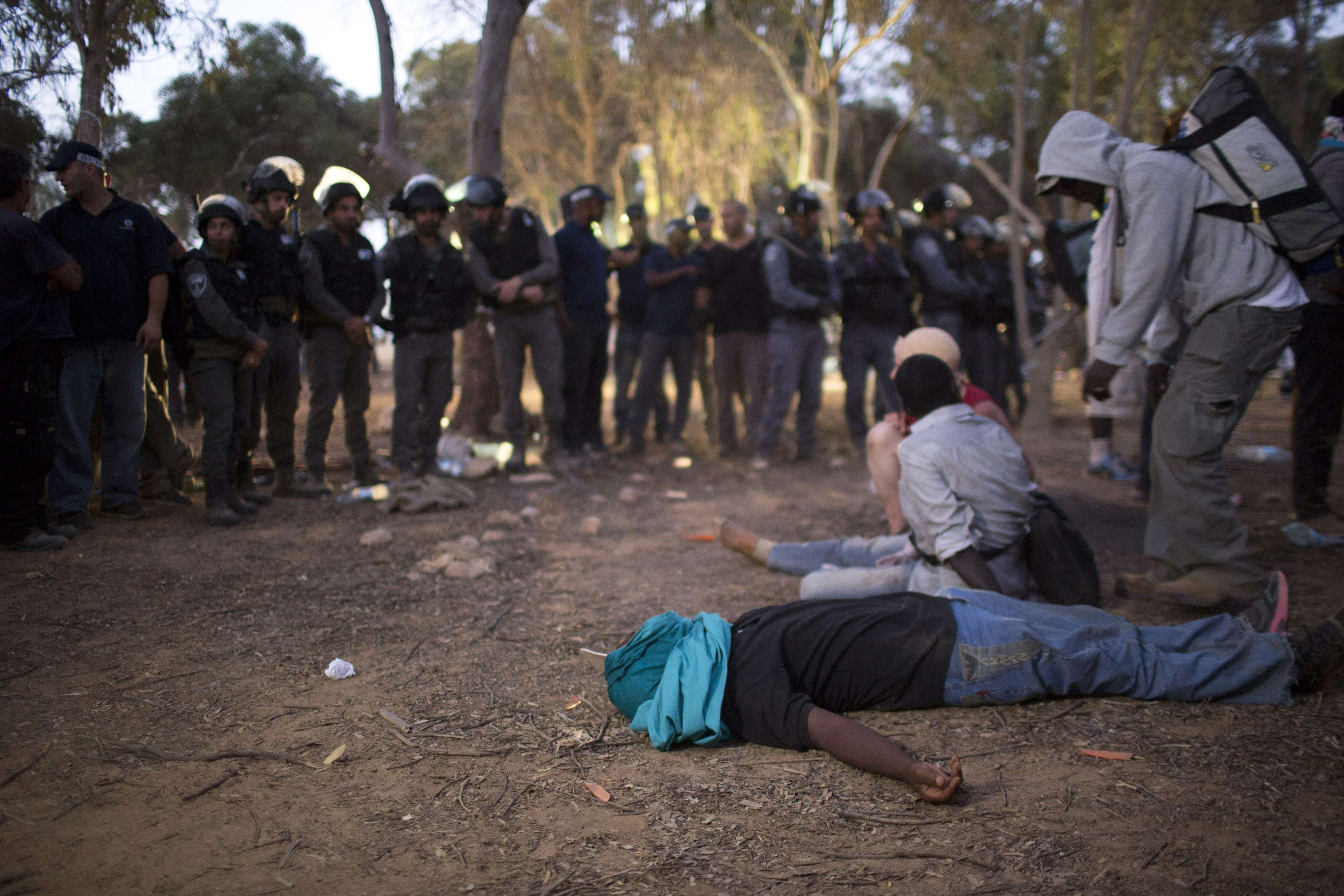 African immigrants in Israel stage protest