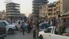 """بالفيديو.. مقاتلو داعش في الرقة يرحبون """"بالخلافة"""""""