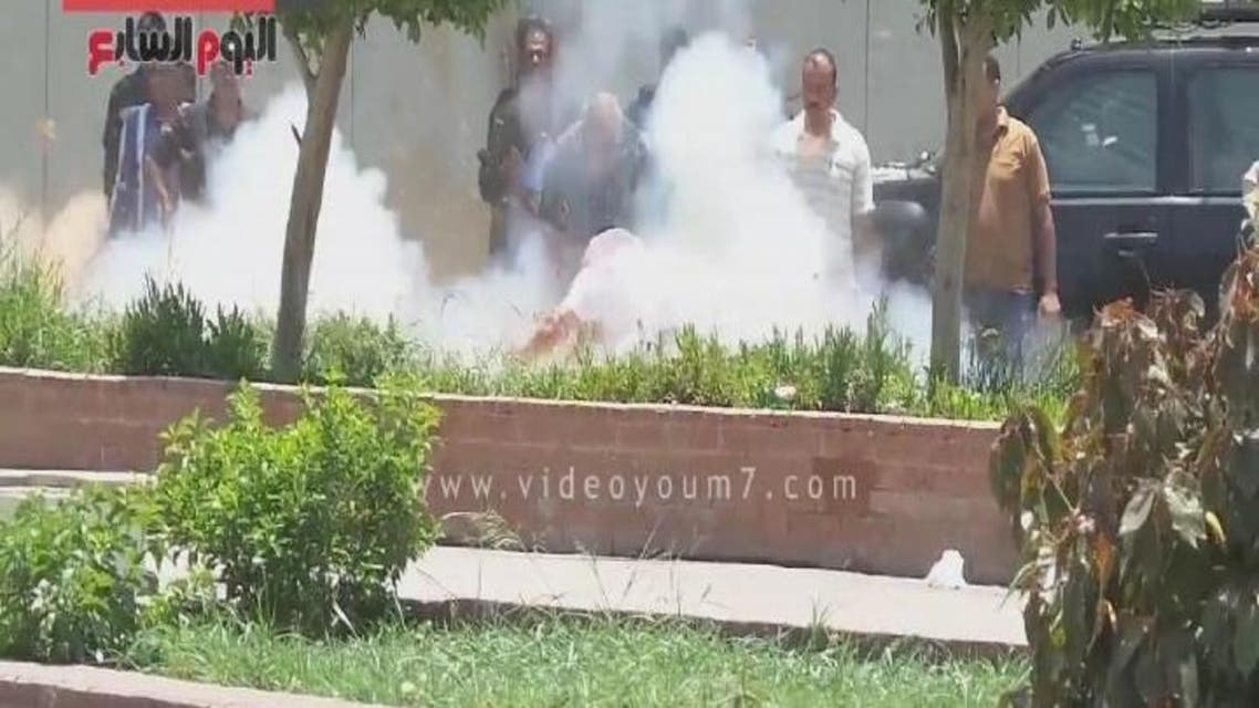THUMBNAIL_ لحظة انفجار قنبلة بمحيط قصر الاتحادية