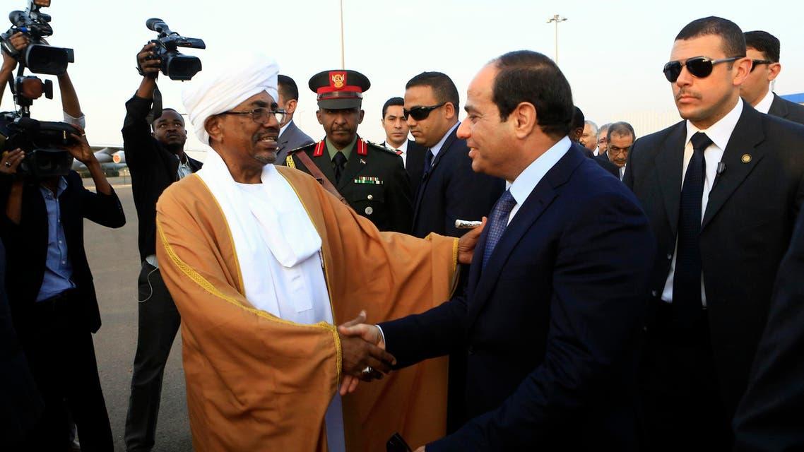 عبدالفتاح السيسي وعمر البشير