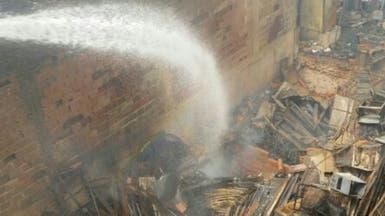12 فرقة تخمد حريق محطة كهرباء بمكة