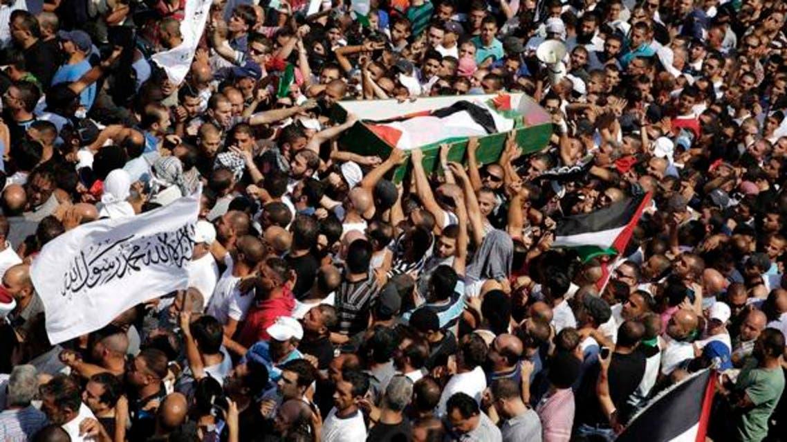 تشييع جثمان الشاب الفلسطيني