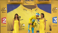 Italian cyclist denied kiss by Tour de France podium girl