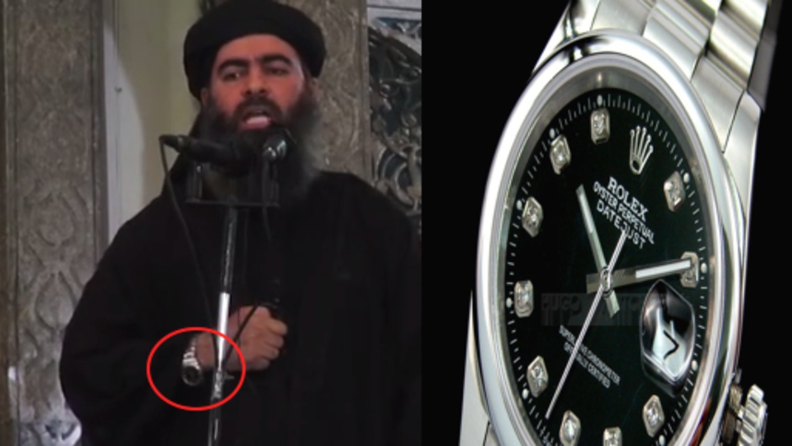 ساعة الخليفة أبو بكر البغدادي