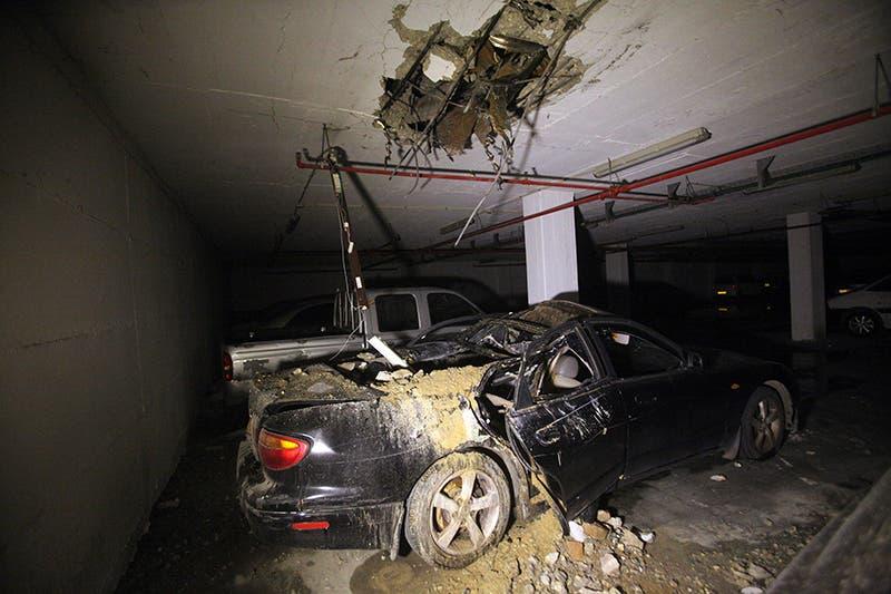 آثار سقوط صاروخ اطلق من غزة على مستوطنة اسرائيلية