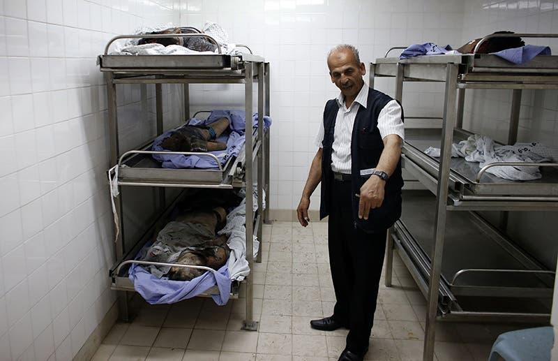 جثث فلسطينيين في مشفى غزة