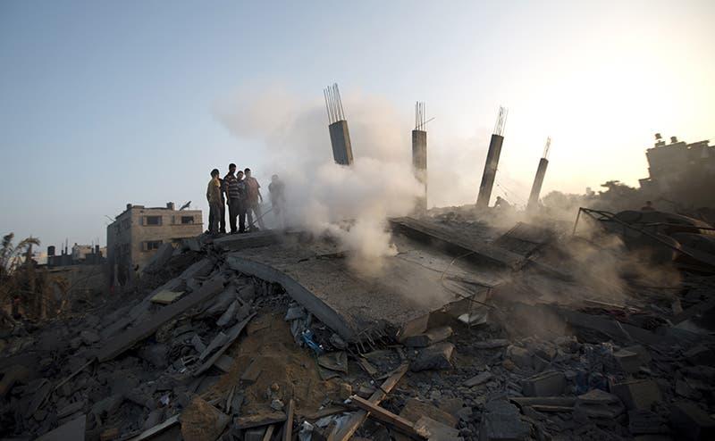 منزل مدمر في غارة اسرائيلية على غزة