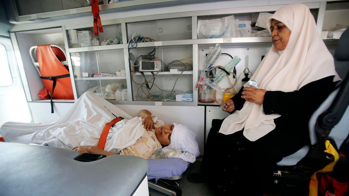 مصابة فلسطينية نتيجة العدوان على غزة