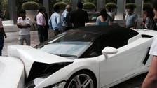 India hotel valet crashes Lamborghini
