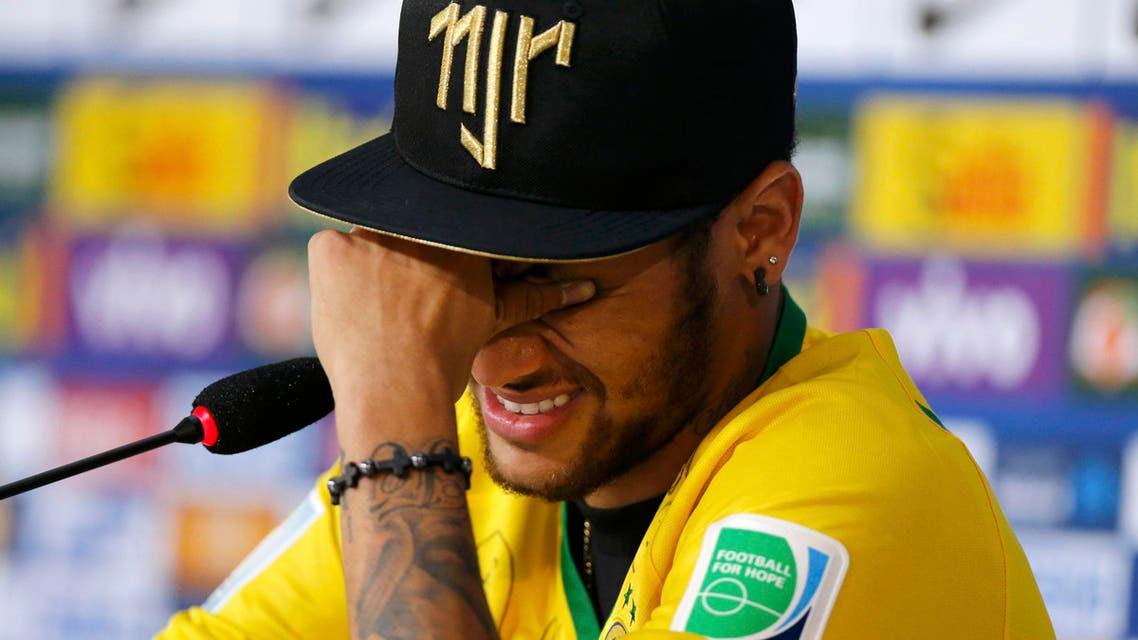 neymar crying reuters