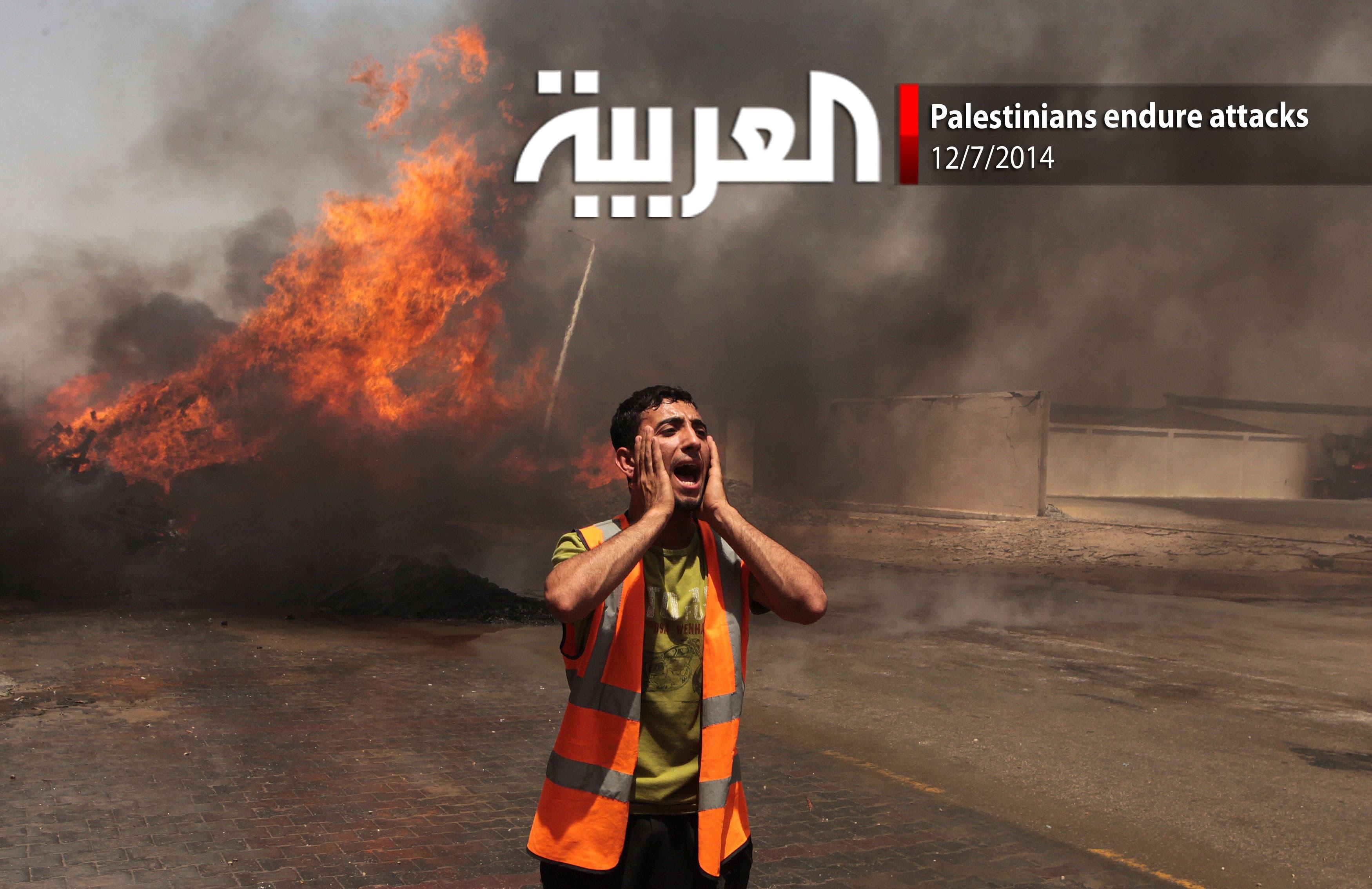 Palestinians endure attacks