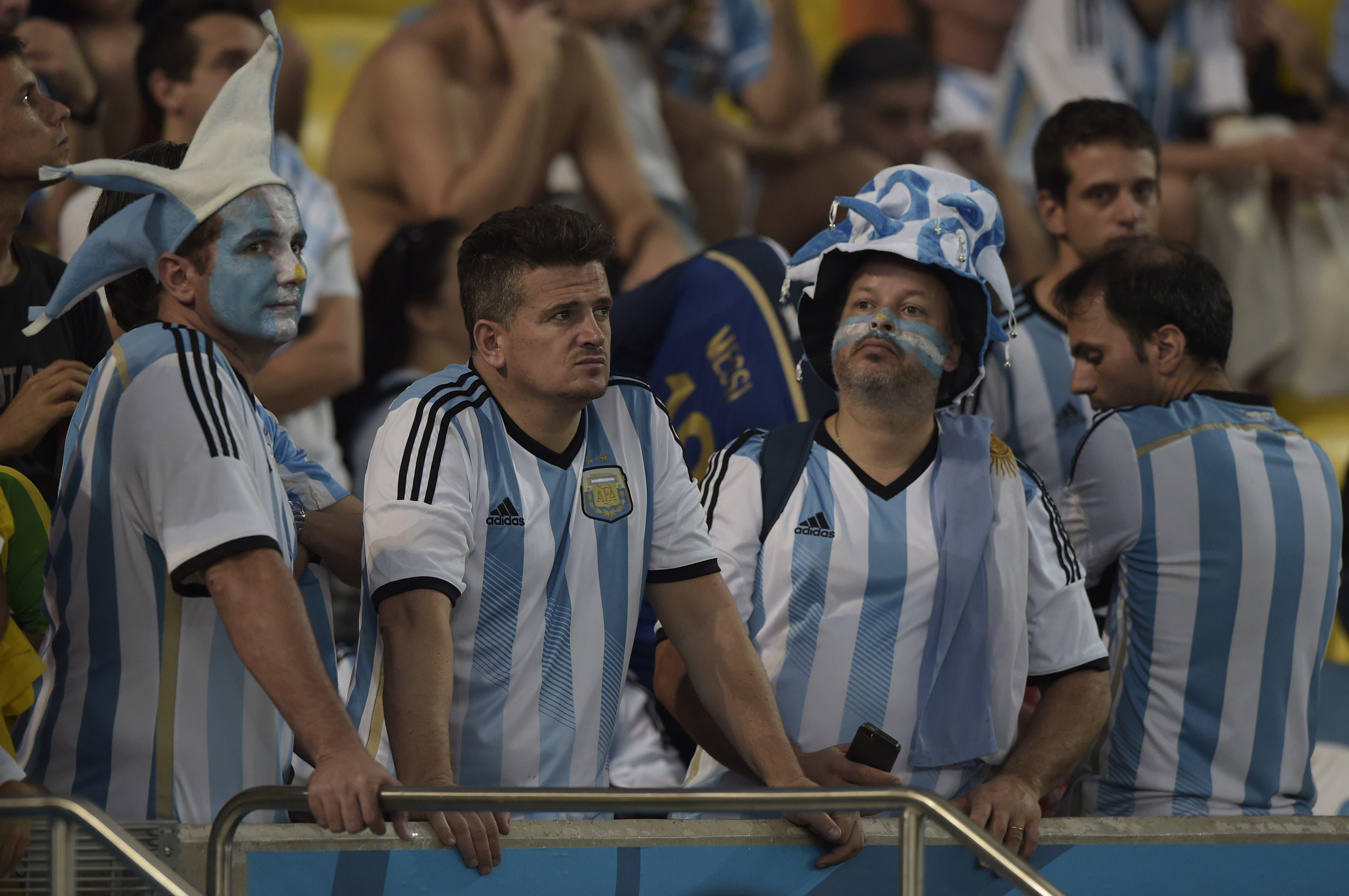 Argentinian fans AFP