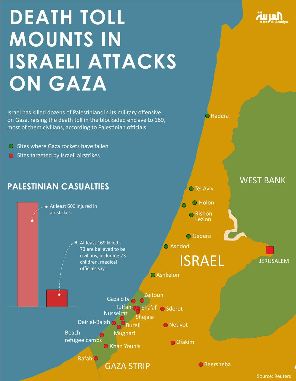 Infographic: Death toll mounts in Israeli attacks on Gaza