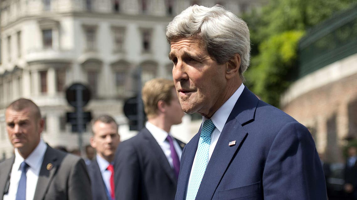 US Secretary of State John Kerry arrives at the Coburg Palais in Vienna, on July 13, 2014, for talks with foreign ministers from the six powers negotiating with Tehran on its nuclear program. AFP