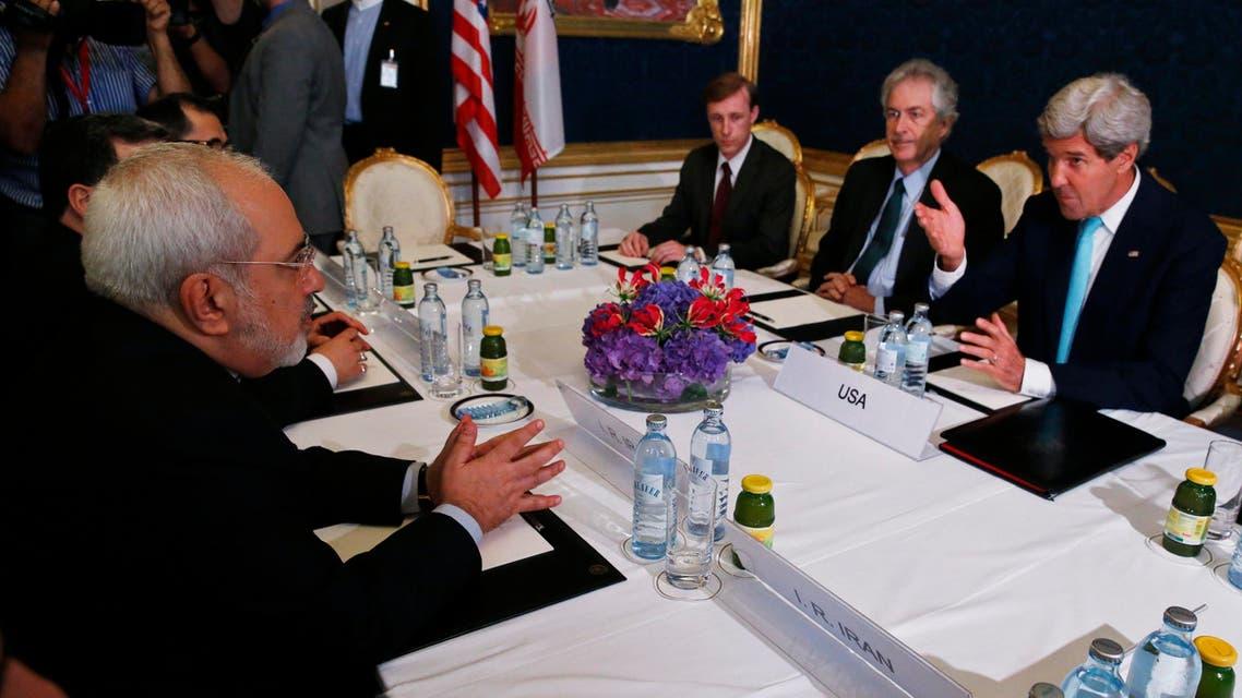 اجتماع جون كيري مع محمد جواد ظريف حول النووي الإيراني في فيينا