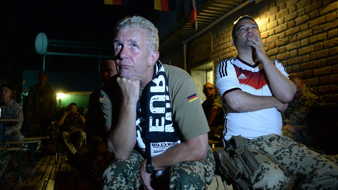 German soldiers cheer Word Cup win in Kabul
